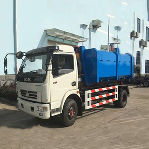 6 wheel small electric garbage truck with body Removable