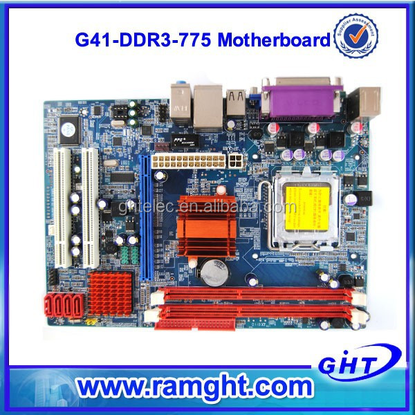 Desktop socket 775 motherboard support p4 pci/ ddr3 with G41 chipset