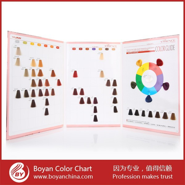 Newest Hair color products,Boyan Color Chart Hair dye/Hair Colourant Swatch Book