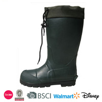 Men sailing boots with cuff waterproof rubber rain boots working boots