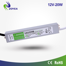 20w 12v 24v dc IP67 led transformer 86v 277v AC/DC LED driver for LED lighting