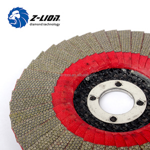 Flexible diamond flap disc for grinding granite and marble