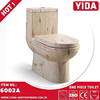 New wood grain siphonic eddy flush one piece toielt garentee 5 years commode