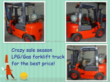 inported nissan engine 3000kg 4*4 lpg gas forklift truck for sale
