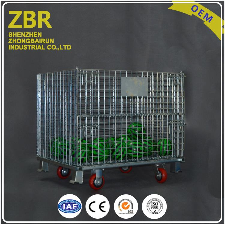 Metallic Wire Mesh Containers Foldable Pallet Metal Basket for Storage