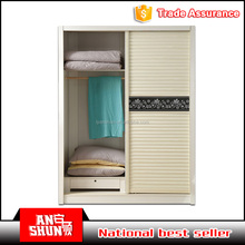 2016 promotion sale PVC door metal big wardrobe on sale
