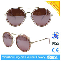 new style 2014 summer fashion sun glasses vintage round custom made women fashion sunglasses