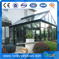 Tempered glass and aluminium frame sunrooms