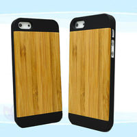 OEM Hot selling Wood + PC Cases for iphone 5 in this Hot Vocation