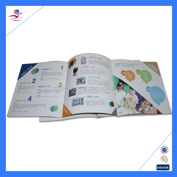 Whole Matte lamination solf cover OEM design A4 magazine printing