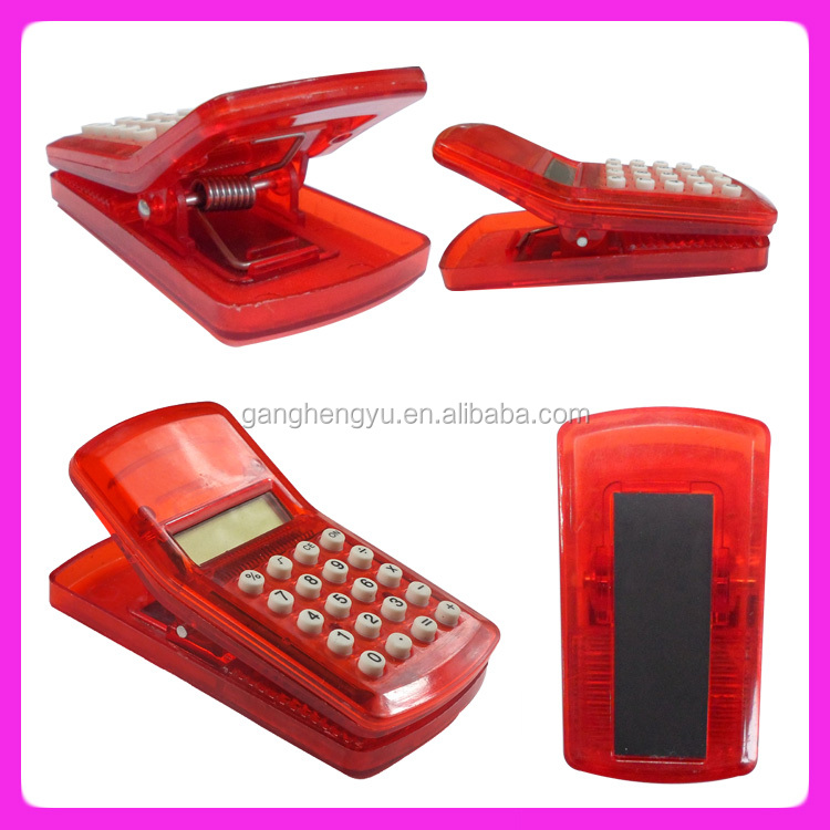 Small silicone calculator,Clip calculator & christmas gift calculator