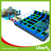 made in China trampoline park with soft play equipment for amusement malls