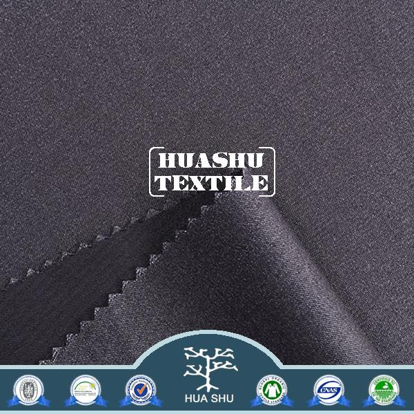 Wholesale Fashion tr suit garment fabric 90% polyester 10%spandex material