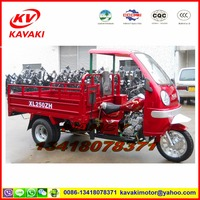 Guangzhou motorcycle factory sale 250cc double rear wheel motorcycle disc brake five wheel cargo tricycle with cabin