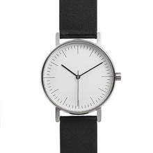 Stainlesss steel 316L genuine leather strap customized designed watch minimalist