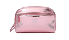 Pink PU Material Mini Cosmetic Bag
