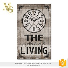 Customized creative shabby chic home decoration antique clock