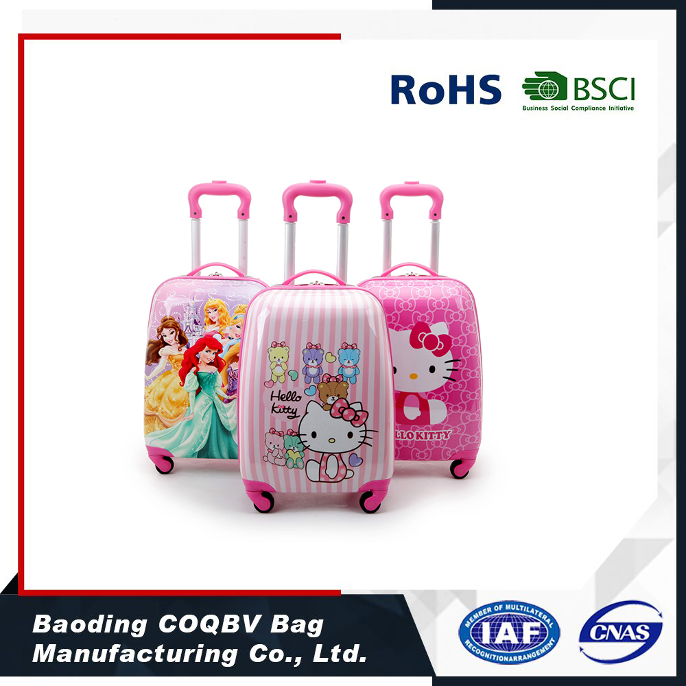 COQBV high quality PC cartoon characters children luggage