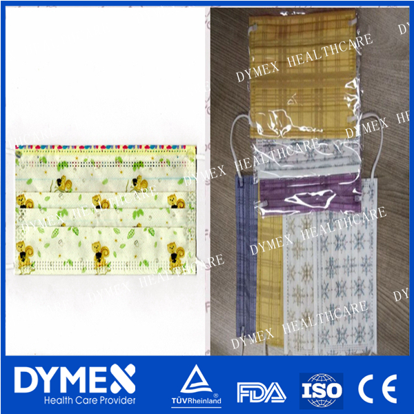 printed flower face mask/Wholesa Flu plastic nose wire Flowers Print Medical Surgical Mask