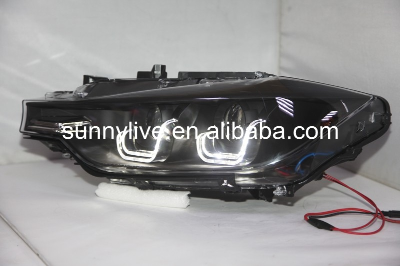 For BMW F30 F35 318 320 325 328 330 335 LED Angel Eyes Headlight for original car 2013-2015 LF