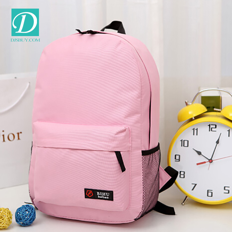 Latest Trendy Nylon Material High School Backpack For Teens