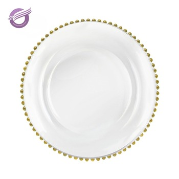 PZ22640 Cheap Wedding Silver Glass Beaded Gold Charger Plates Wholesale  sc 1 st  Ningbo Kaiqi Textile Industry\u0026Trading Co. Ltd. - Alibaba & PZ22640 Cheap Wedding Silver Glass Beaded Gold Charger Plates ...