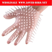 2016 Glove Massager For Couples Adult Game Silicone Gloves Bathe Tools sex Toys
