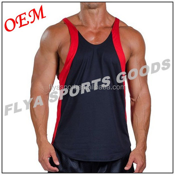 2018 promotional men's racerback muscle gym singlets