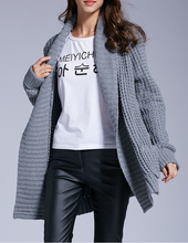 B31527A New Fall And Winter Clothes Hot Sale Cardigan Knitting Loose Ladies Coat Women Sweater