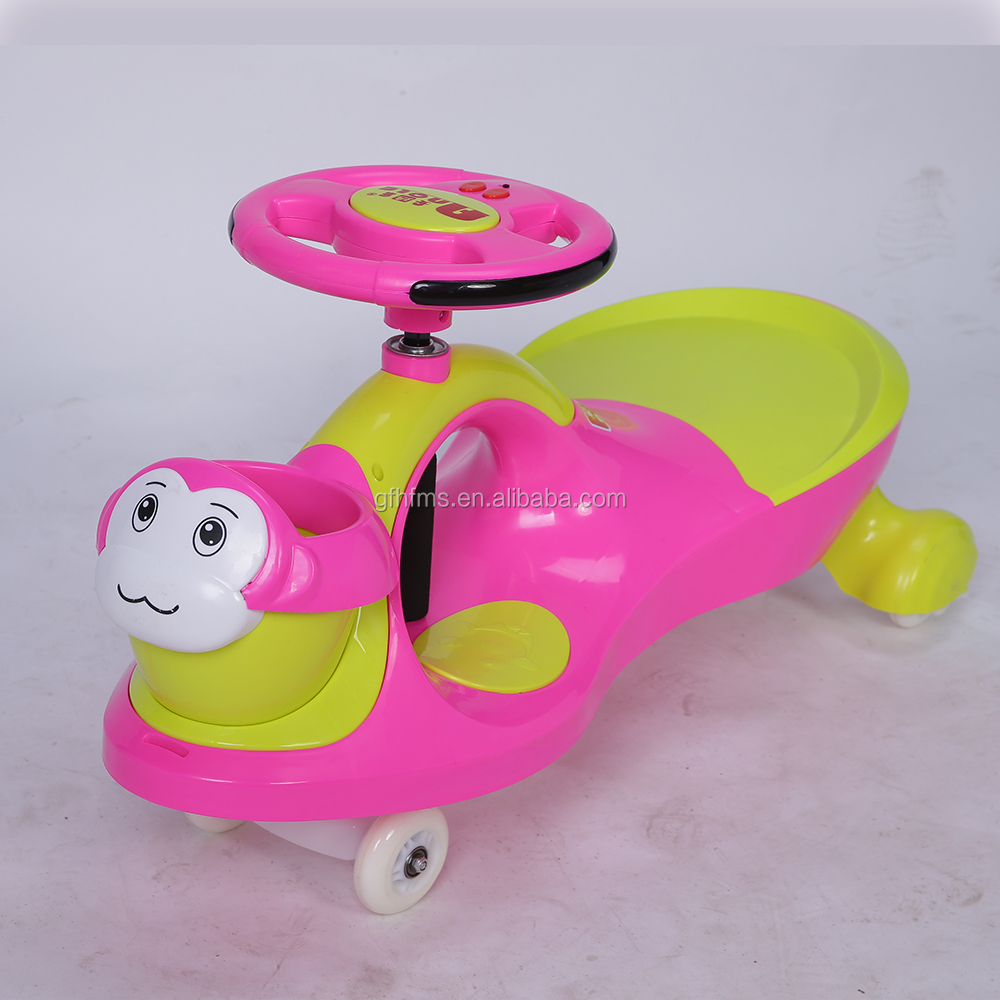 High Quality With Best Price Top Sell Monkey Head Kid's Toy Ride On Swing Car