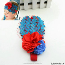 fashion cute feather hair bands made of hair with flowers