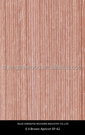 china cheap commercial apricot timber wood recon face vietnam eucalyptus core veneer for furniture decoration