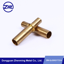 Factory wholesale shoulder shaft bushing , cnc milling brass sleeve , washing machine spare part