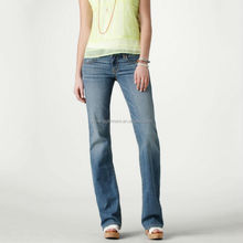 Wholesale ladies denim jeans & trousers women in tight blue jeans 2017