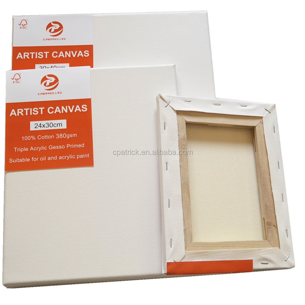 Promotion 40*40cm 1.7*2.5cm pure cotton oil painting canvas frames