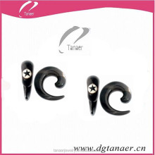 Acrylc ear expander piercing black fake ear plug