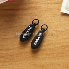 High Quality Rubber Zipper Puller Rubber Silicone 3D EMBOSSED LOGO Zip Puller/slider