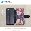 Best selling sublimation pu leather phone case for iphone 6 with TPU case inside, customized phone cover