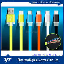 OEM+ODM+LOGO colorful jelly usb c cable to usb 3.0,usb shielded high speed cable 2.0 revision 28awg 2c 24awg 2c