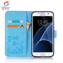 Flip diamond leather cell phone wallet case for samsung galaxy s7 s7 edge s8 s8 plus