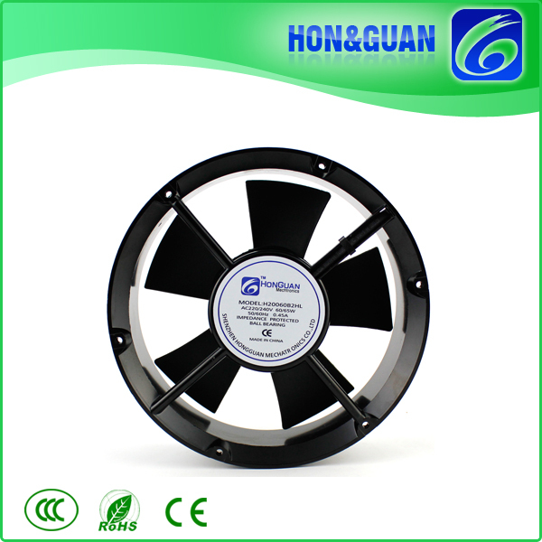 high air flow 220*220*60 mm small ac cooler fan for condenser