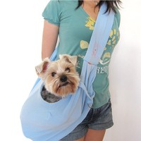 Small reversible pet dog animal sling carrier bag for dog
