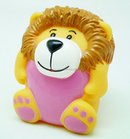 Phthalate free plastic forest animal rubber toy lion with CE