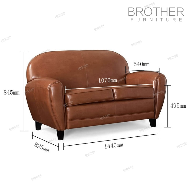 High quality italian antique furniture chesterfield sofa with two seat