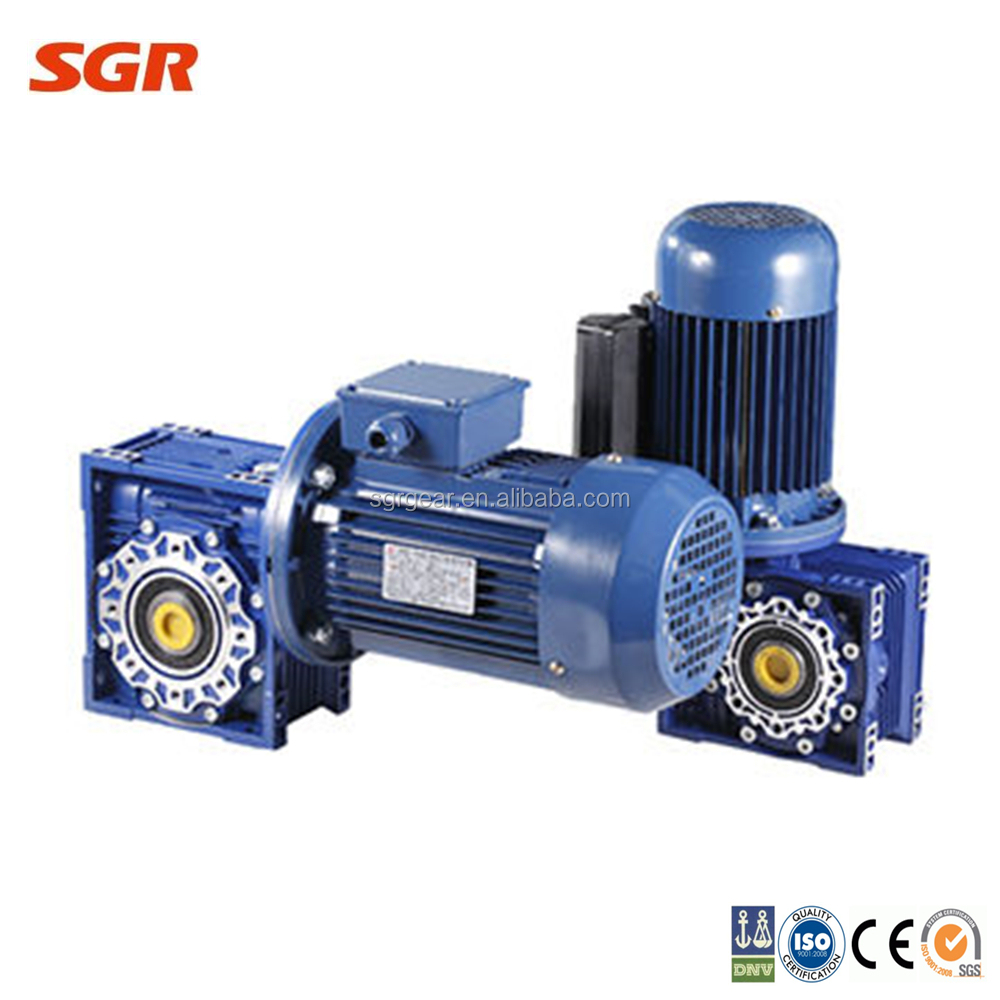 Small worm gearbox for conveyor