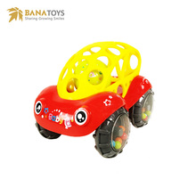 Cartoon infant Silicone rattle car baby toys