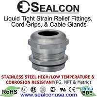 Stainless Steel: Strain Relief Fittings, Cord Grips, Cable Glands