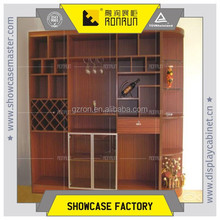 Luxury wine store decoration wooden wine display stands commercial jewelry display showcase