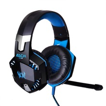 Gaming Headset headphone EACH G2000 Headband with Mic Stereo Bass LED Light for PC Game Electronics Game