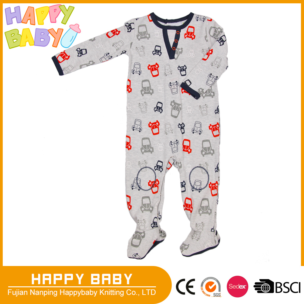 Fty Directly Interlock Infant Toddler Baby Boy Romper Jumpsuit